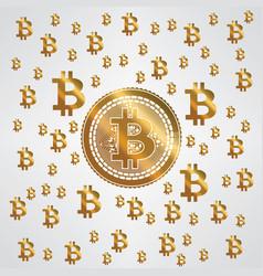 bitcoin yellow gold pattern vector image vector image