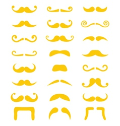 Blond moustache or mustache icons set vector image vector image