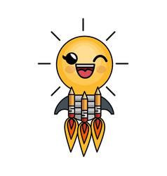 Bulb light big idea character vector