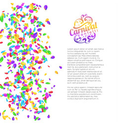 colorful carnival confetti background vector image vector image