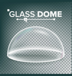 Dome advertising presentation glass vector
