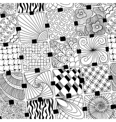 doodles pattern zentangle vector image