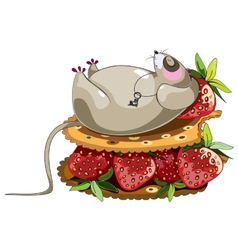 Fat lazy mouse vector