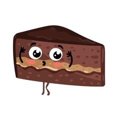 Funny cake isolated cartoon character vector