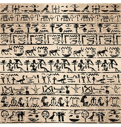 Grunge background with Egyptian hieroglyphs vector image vector image
