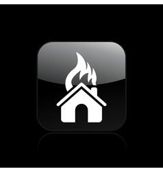 house burning single vector image