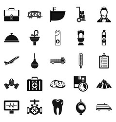 Making things icons set simple style vector