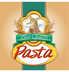 Pasta pack label vector
