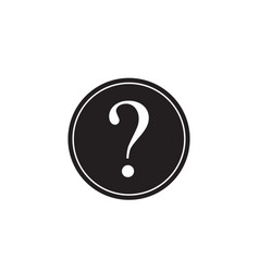 question mark solid icon help sign faq vector image