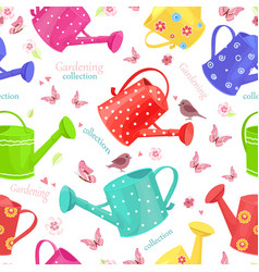 seamless texture with collection of funny vector image vector image