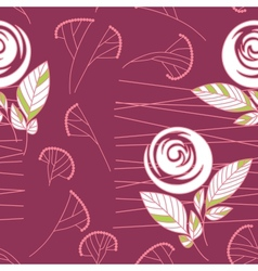 seamless vintage rose pattern background vector image