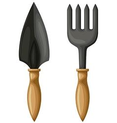 shovel cultivator vector image vector image