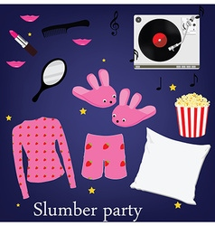 Slumber party vector