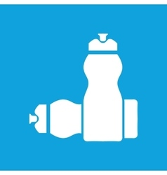 Sport bottles icon simple vector