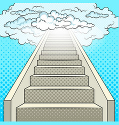 stairway to heaven pop art vector image vector image