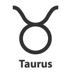 Taurus bull zodiac sign icon vector