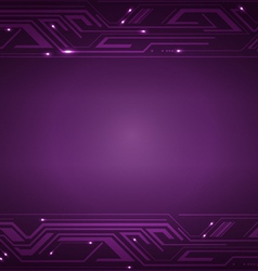 Technology violet background vector