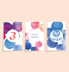 watercolor template vector image
