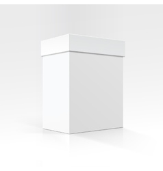 White carton box in perspective close up isolated vector