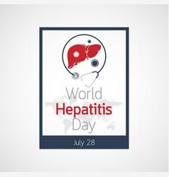 world hepatitis day icon vector image