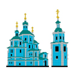Scheme for embroidery resurrection cathedral vector