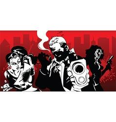 Cartoon gang vector image