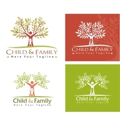 child and family vector image