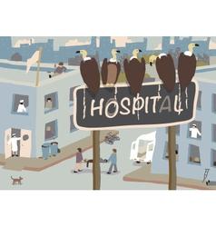 Hospital vultures vector