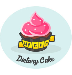 dietary sweet cake vector image
