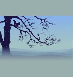 Nature winter landscape template vector