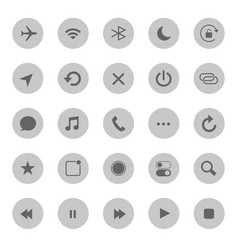 Media mobile and communication icons vector