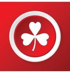 Clover icon on red vector