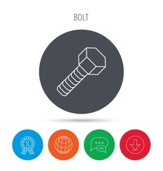 Screw icon bolt sign vector