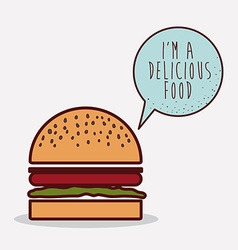 Delicious fast food design vector