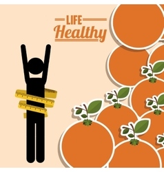 Life healthy design vector
