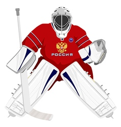 Team russian hockey goalie vector