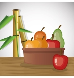 Tropical fruits vector image