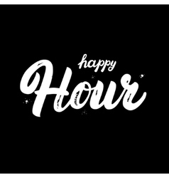 Happy hour hand written lettering vector