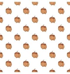 Acorns pattern cartoon style vector image