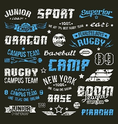 Badges baseball and rugby college team vector