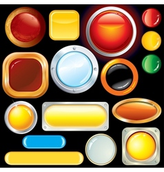 Blank Web Buttons Knobs Image vector image