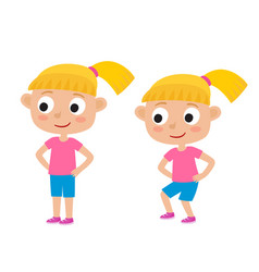 blonde girl in exercise vector image vector image