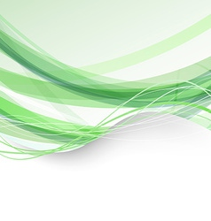 Border bright folder green swoosh background vector image
