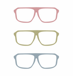 colorful glasses set vector image vector image