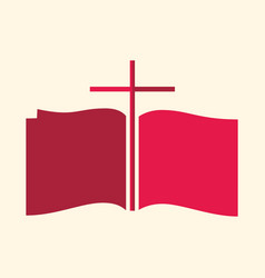 Cross and the bible vector