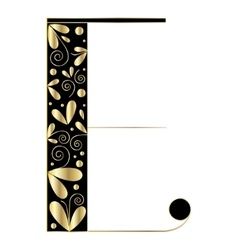 Decorative letter shape e vector