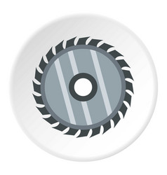 Drive for saw icon circle vector