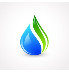 Eco water drop vector