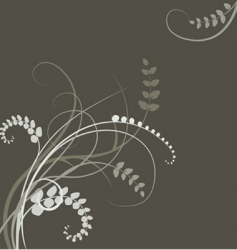 Floral background - plant leaves vector