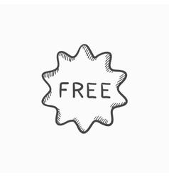 Free tag sketch icon vector